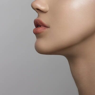 Side profile of woman's face